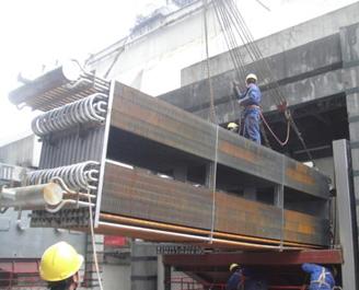 三门峡华阳发电低温省煤器项目建设