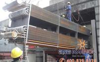 320MW低温省煤器安装现场